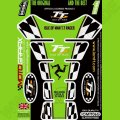 Motografix Isle Of Man TT Races Official Licensed 3D Gel Tank Pad Protector IOMTT06G