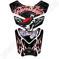 Motografix Born To Lose, Live To Win Skull Black 3D Gel Tank Pad Protector ST084