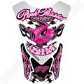 Motografix Pink Pussies I Wanna Come First White / Pink 3D Gel Tank Pad Protector ST085