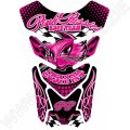 Motografix Pink Pussies I Wanna Come First Black / Pink 3D Gel Tank Pad Protector ST085K