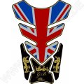 Motografix Great Britain - Union Jack Gold 3D Gel Tank Pad Protector ST087A