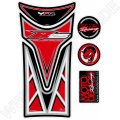Motografix Yamaha YZF R 125 Red 3D Gel Tank Pad Protector TY017R