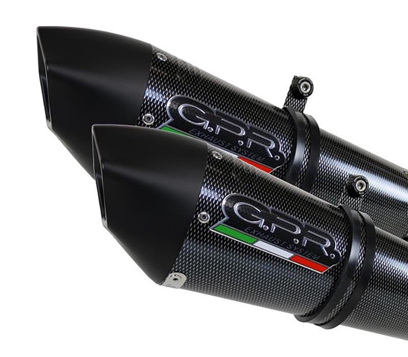 GPR GPE ANN.POPPY PAIR BOLT-ON EXHAUST SUPERMOTO SMR 990 2008/12