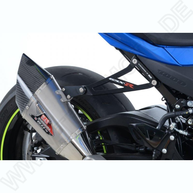 R&G Racing Exhaust Hanger Kit BLACK Suzuki GSX-R 1000 2017- - TechMoto