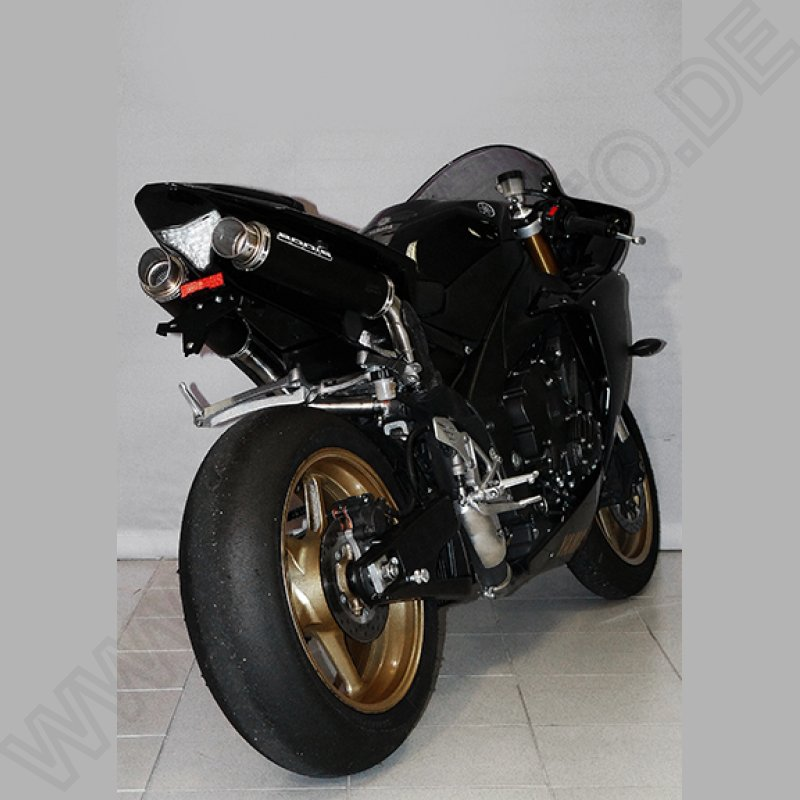 Bodis GP1 black Exhaust Muffler Yamaha YZF R1 2009-2014