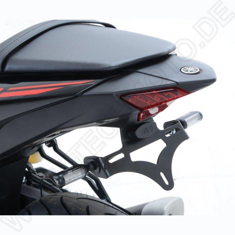 Color : MT 03 Logo DER Motorrad for Yamaha YZF R3 R25 MT03 MT 03 MT03 Lizenznummer Feld-Halter Kennzeichenhalter Kennzeichenhalter Fender Motorrad