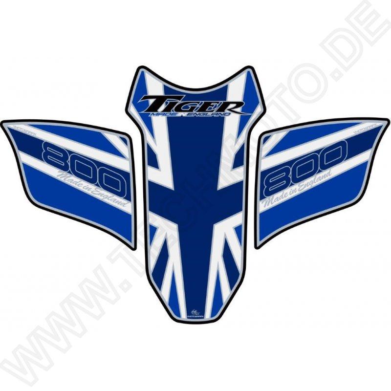 Triumph Tiger 1200 2018 Blue Motorcycle Tank Pad Protector Motografix 3D Gel
